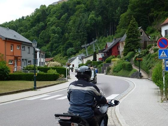 """in Vianden (L), den Samstag war dort """"Schweinetreiben"""""""