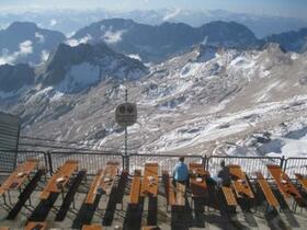 Deutschlands höchst gelegener Biergarten auf der Zugspitze
