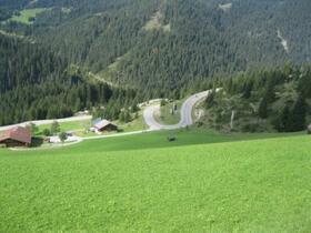 Blick zurück bei Berwang (Österreich)